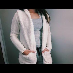 Fluffy off-white cardigan